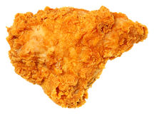 Knapperig Fried Chicken Breast Isolated Over-Wit royalty-vrije stock foto