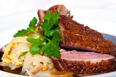 Knapperig varkensvleesvlees Stock Foto's
