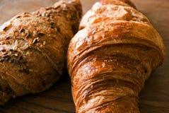 Knapperige croissants Stock Foto