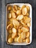 Knapperige geroosterde aardappel royalty-vrije stock afbeelding