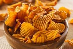 Knapperige Oranje Zoete Chips Stock Fotografie