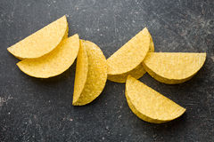 Knapperige tacoshells Stock Foto