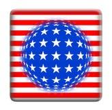 knappfantasiflagga USA Royaltyfria Foton