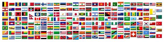knappflaggor royaltyfri illustrationer