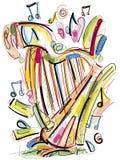Knapphändig harpa Royaltyfri Fotografi