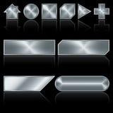 knappmetall vektor illustrationer