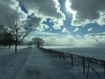 Knaprig vintermorgon Arkivfoto