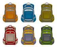 Knapsack set Royalty Free Stock Photography