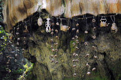 在Knaresborough的水滴墙壁,英国 免版税库存照片