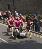 Knaresborough bed race 2015 photo. Photo of competitors in 2015 bed race Royalty Free Stock Photography