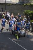 Knaresborough bed race 2015 team 11. Team 11 during the knaresborough bed Stock Photos