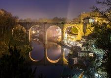 Knaresborough en la noche Imagen de archivo libre de regalías