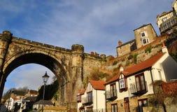 Knaresborough homes viaduct bridge England royalty free stock photos