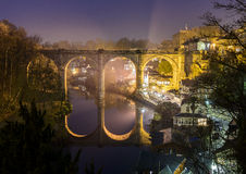 Knaresborough at night. With a view of the viaduct Royalty Free Stock Image