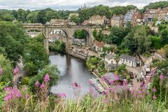 Knaresborough no condado de Yorkshire Foto de Stock Royalty Free