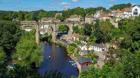 Knaresborough with the Viaduct Royalty Free Stock Images