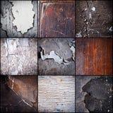 knastrade gammala väggar Royaltyfria Foton