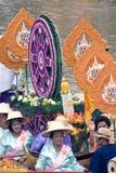 KnatteChado stearinljus som svävar festivalen, Thailand Fotografering för Bildbyråer