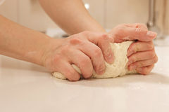 Knead dough Royalty Free Stock Photography