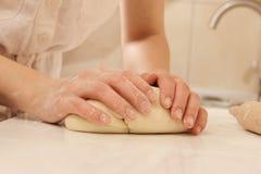 Knead dough Royalty Free Stock Photos