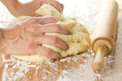 Knead the dough Stock Image