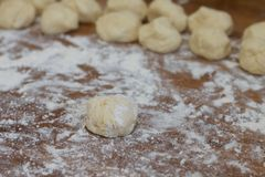 Kneaded dough Royalty Free Stock Photo
