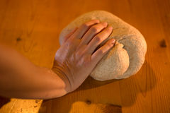 Kneading bread, pizza, and more Royalty Free Stock Photography