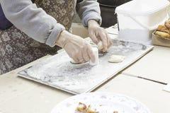 Kneading desserts Stock Photography