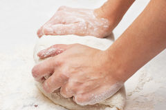 Kneading Dough Stock Images
