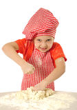 Kneading dough Stock Photography