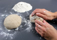 Kneading dough Royalty Free Stock Photography