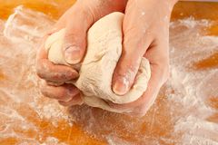 Kneading the dough Royalty Free Stock Photography