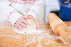 Kneading dough Stock Image