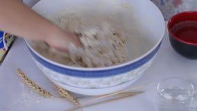 Kneading the dough stock video