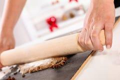 Kneading Dough Stock Image