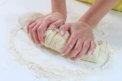 Kneading Dough Royalty Free Stock Photos