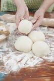 Kneading the dough Stock Photo