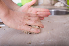 Kneading dough Royalty Free Stock Photo