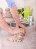 Kneading dough Stock Photos