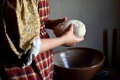 Kneading Dough Royalty Free Stock Photos