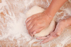 Kneading scone dough Stock Photography