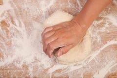 Kneading scone dough Royalty Free Stock Photo
