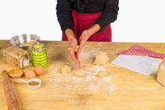 Kneading Royalty Free Stock Photography