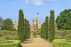 Knebworth ogródy i dom fotografia royalty free