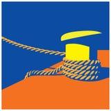 Knecht et cordes d'amarrage Photo stock