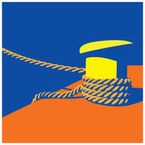 Knecht and mooring ropes Stock Photo
