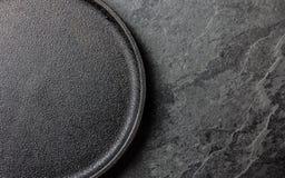 knedle tła jedzenie mięsa bardzo wiele Opróżnia obsada żelaznego czarnego talerza zdjęcie royalty free