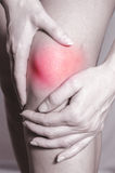 Knee ache Royalty Free Stock Images