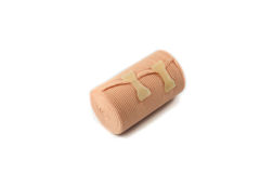 Knee bandage for joint pain relief Royalty Free Stock Photo