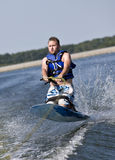 Knee Boarding Royalty Free Stock Image